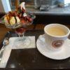 サンマルクカフェでカフェPC仕事(アイスのスイーツとコーヒー)
