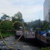 毛利庭園☆水上ビアガーデンの工事現場(六本木ヒルズ)