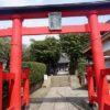 参道の長い近所の小さな神社(八幡神社:川和町)