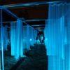 光のカーテンアート(夜の東京ミッドタウンを散歩)