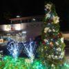 田園都市線:市が尾駅のクリスマス飾り(ETOMO)