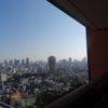 タワマンのベランダから眺める冬晴れの風景(ヒルズレジデンス)