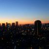 タワーマンションから眺める早朝の空(六本木ヒルズレジデンス)