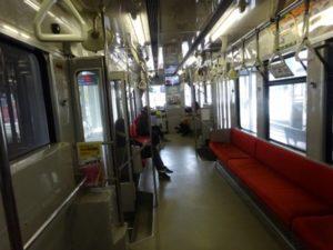 富山市 路面電車 車内
