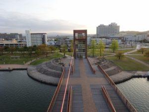 富山環水公園 展望台 見晴らし