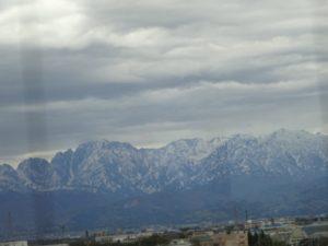 富山港 展望台 立山連峰