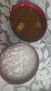 玄米と味噌汁